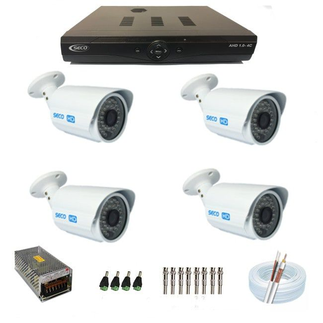 KIT 4 Câmeras Bullet IR Híbrida - AHD HD 1080p