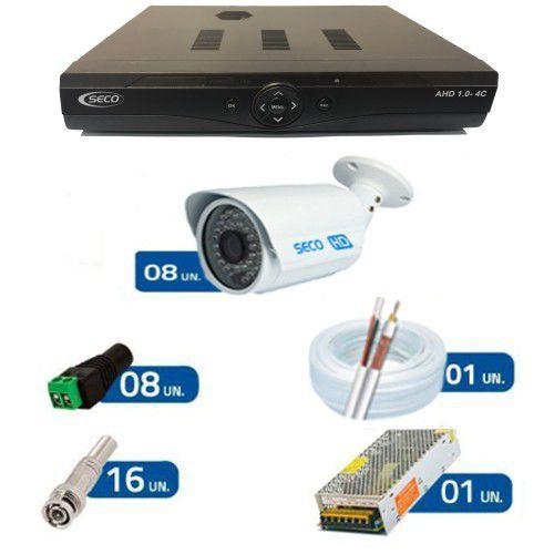 KIT 8 Câmeras Bullet IR Híbrida - AHD HD 720p
