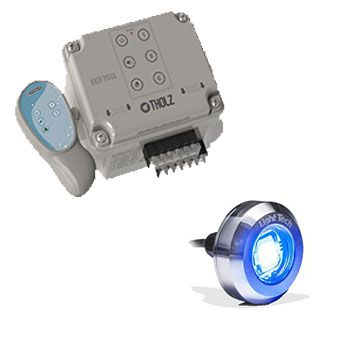 Kit 1 Led Tiny Inox 10W Light Tech com Easy Pool Touch Touch Tholz