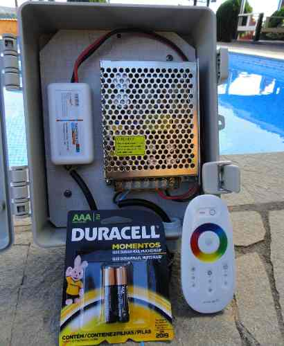 Led Piscina - Kit 10 Led RGB 12W Inox Divina Lux + Central + Controle