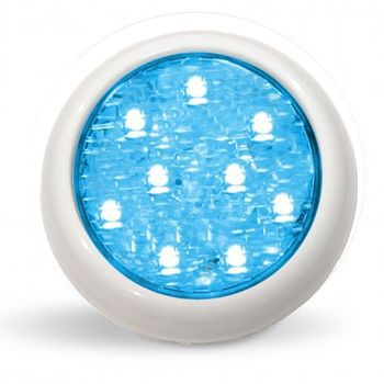 Led Piscina - Kit 2 Led Monocromático 9w Nautilus + Central + Controle