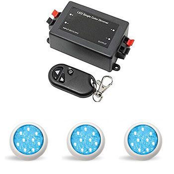 Led Piscina - Kit 3 Led Monocromático 9w + Central + Controle