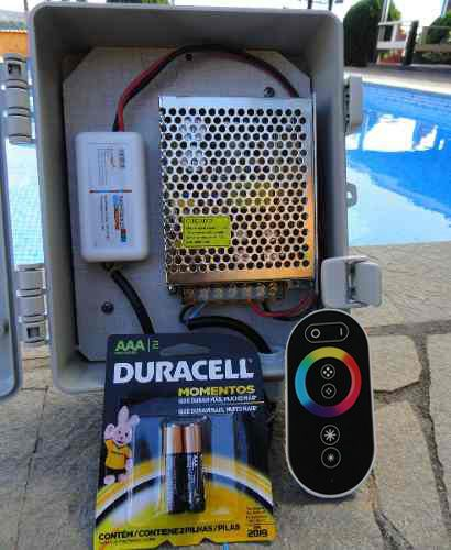 Led Piscina - Kit 3 Pratic SMD + Central + Controle Touch