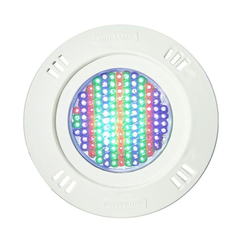 Kit 6 Led Piscina Pratic SMD + Central + Controle - Sodramar