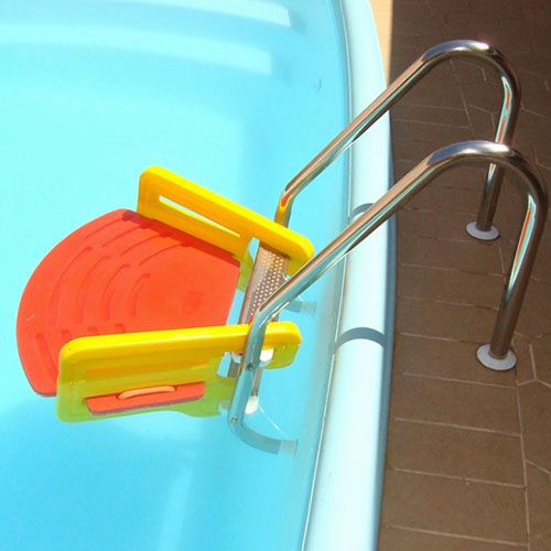 Plataforma Escada Save Dog para cachorro e gato na piscina