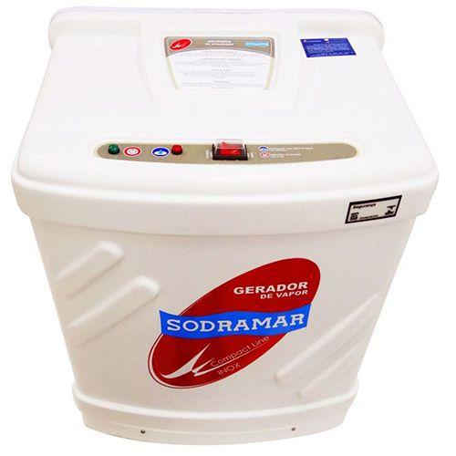 Sauna a Vapor Compact Line Inox 12kW Sodramar - Até 18m³