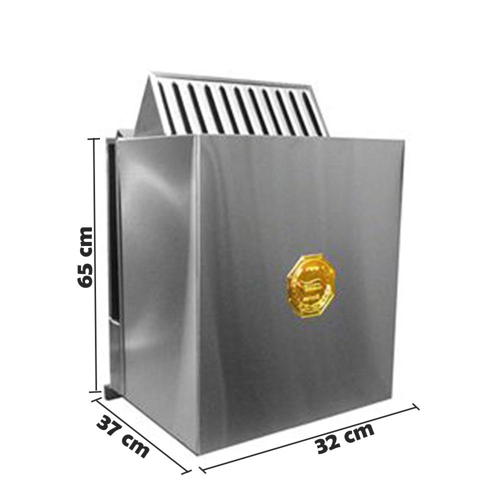 Sauna Seca Elétrica parede - Comando Digital 7,5Kw Impercap até 13m³