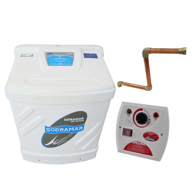 Sauna Vapor Sodramar 6Kw + Quadro Analógico + Kit Instalação 6m³