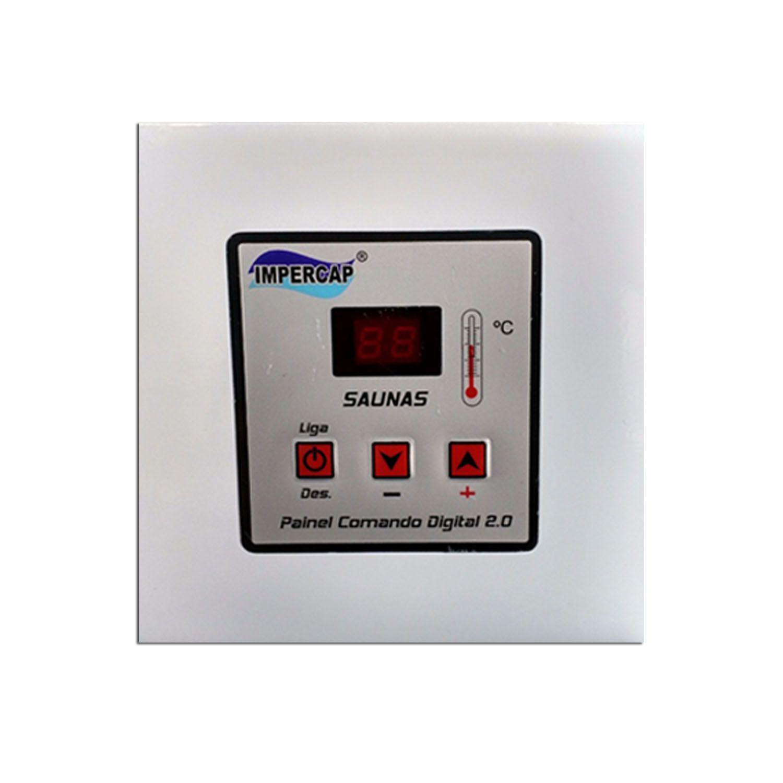 Sauna Vapor Elétrica 18kw Inox - Comando Digital Impercap - 32m³