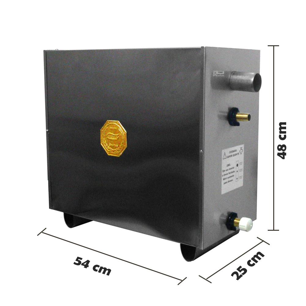 Sauna Vapor Elétrica 21kw Inox - Comando Digital Impercap - 36m³