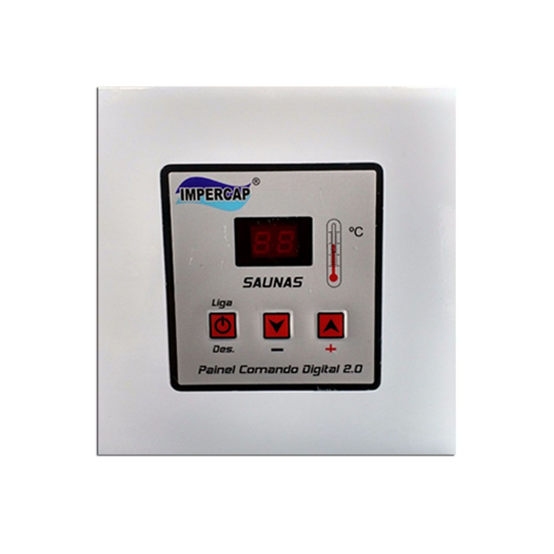 Sauna Vapor Elétrica 27kw Inox - Comando Digital Impercap - 50m³