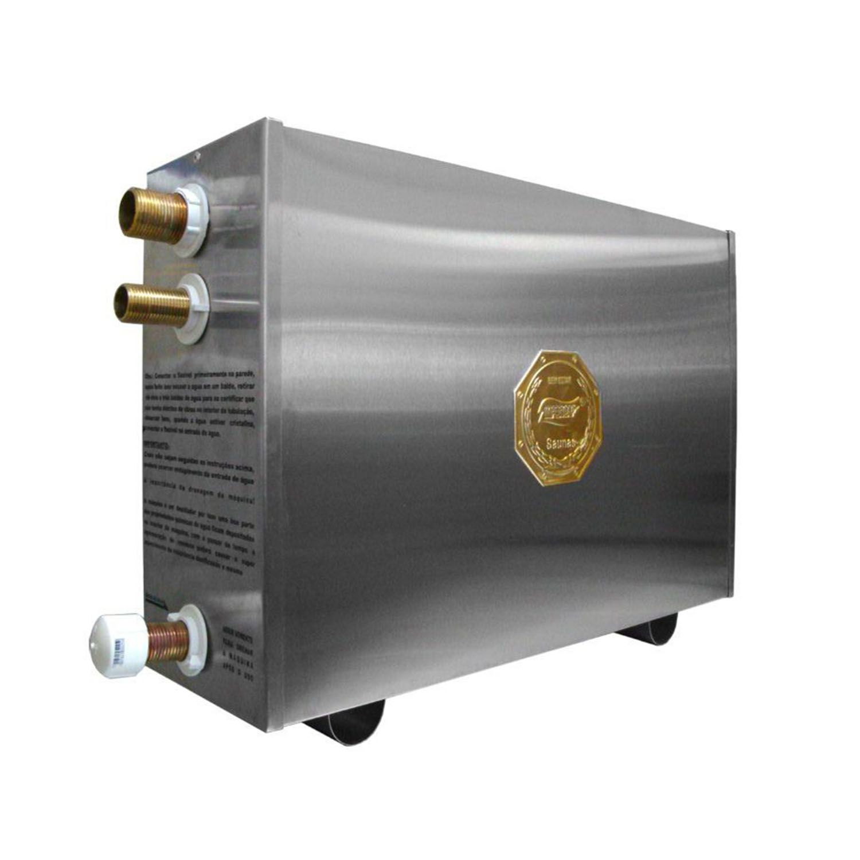 Sauna Vapor Elétrica 9kw Inox - Comando Digital Impercap - 12,5m³