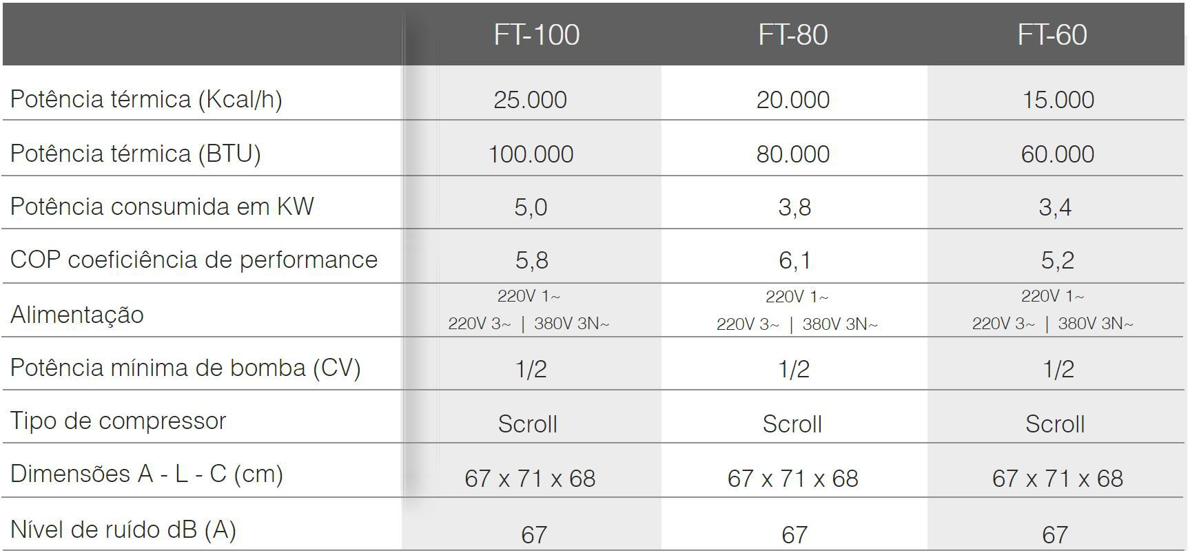 Trocador de Calor Aquecedor Piscina FromTherm FT60 com TouchScreen