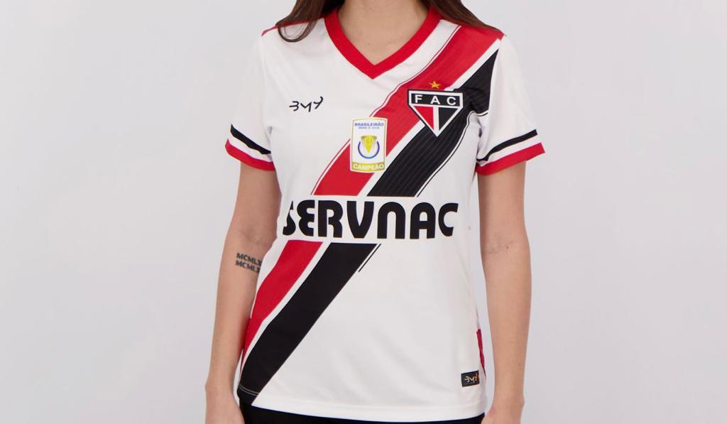 Camisa Uniforme 01 com patrocínio FEMININA N.10 REF.2008100 (2019)