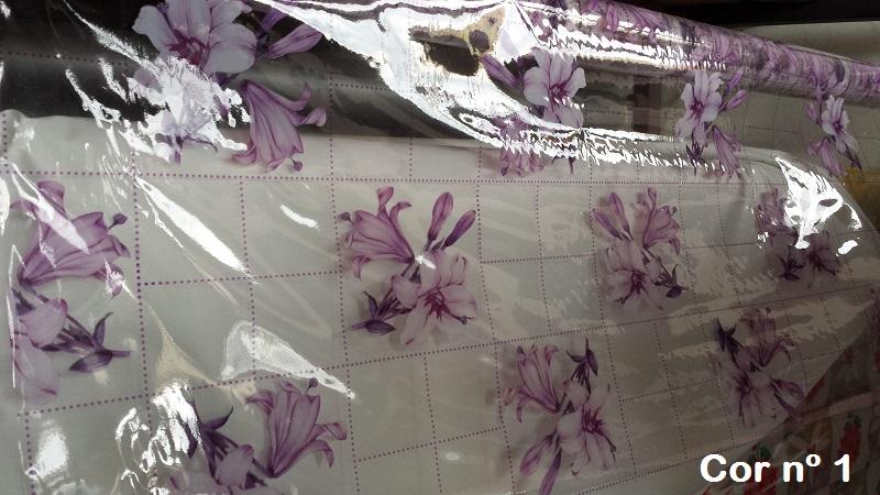 Plástico Toalha de Mesa Transparente Estampada por Metro (1,40m de Largura)