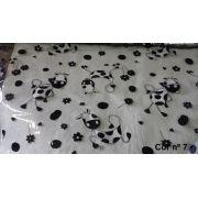 Plástico Toalha de Mesa Transparente Estampada por Metro (1,40m de Largura) - 2