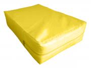 Capa Casal Impermeável Amarela Anti alérgica Hospitalar Forrada Com Zíper Medida Especial