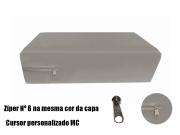 Capa Colchao Solteiro Cinza Hospitalar Impermeavel Com Ziper