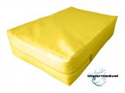Capa Colchao Solteiro Hospitalar Impermeavel Medida Especial - Amarela
