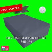 Capa Colchão Solteiro Hospitalar Impermeável Medida Especial - Azul Marinho