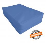 Capa Impermeável Colchão King Especial Com Ziper Forrada anti alérgica - Sob Medida Azul