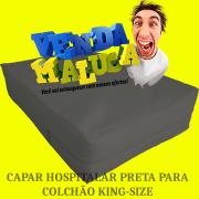Capa Impermeável P/ Colchão King Especial Preta - - Sob Medida