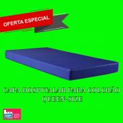Capa impermeável para Colchão queen confeccionada em napa hospitalar  Azul