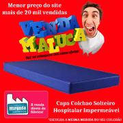 Capa p/ Colchão Solteiro Tipo Hospitalar Impermeável Azul
