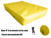 Capa Para Colchão Berço Mini Cama Impermeável Com Zíper AMARELA