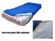 Capa Para Colchão Berço Mini Cama Impermeável Com Zíper Azul