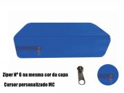 Capa Queen Impermeável P/ Colchão Azul Royal Medida Especial
