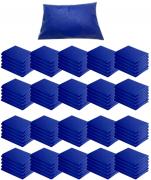 Kit 100 Capas Travesseiro 50 X 70 Hospitalar Impermeável AZUL