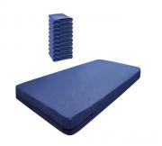 Kit 10 Capas De Colchão Solteiro Impermeável Azul