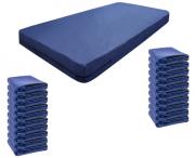 Kit 20 Capas De Colchão Solteiro Impermeável Azul