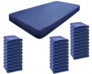 Kit 30 Capas De Colchão Solteiro Impermeável azul