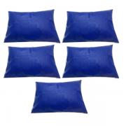 Kit 5 Capas Travesseiro 50 X 70 Hospitalar Impermeável Azul