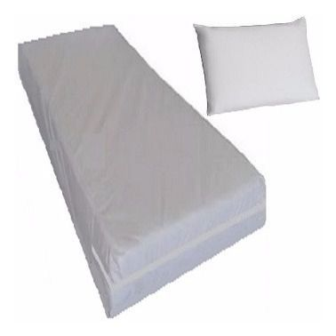Kit Capa Colchao Solteiro + Capa Travesseiro Branca