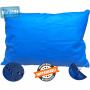 Capa Azul  Impermeável Para Travesseiro Hospitalar 50x70 cm Com Zíper