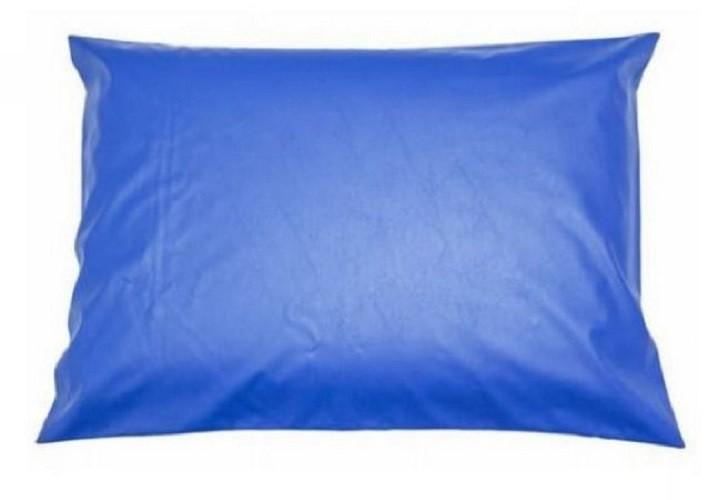 Capa Azul  Impermeável Para Travesseiro Hospitalar 50x70 cm Com Zíper  - Miranda Colchões