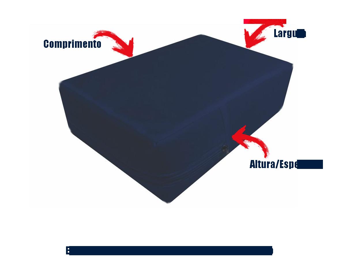 Capa Casal Impermeável Azul Marinho Anti alérgica Hospitalar Forrada Com Zíper Medida Especial  - Miranda Colchões