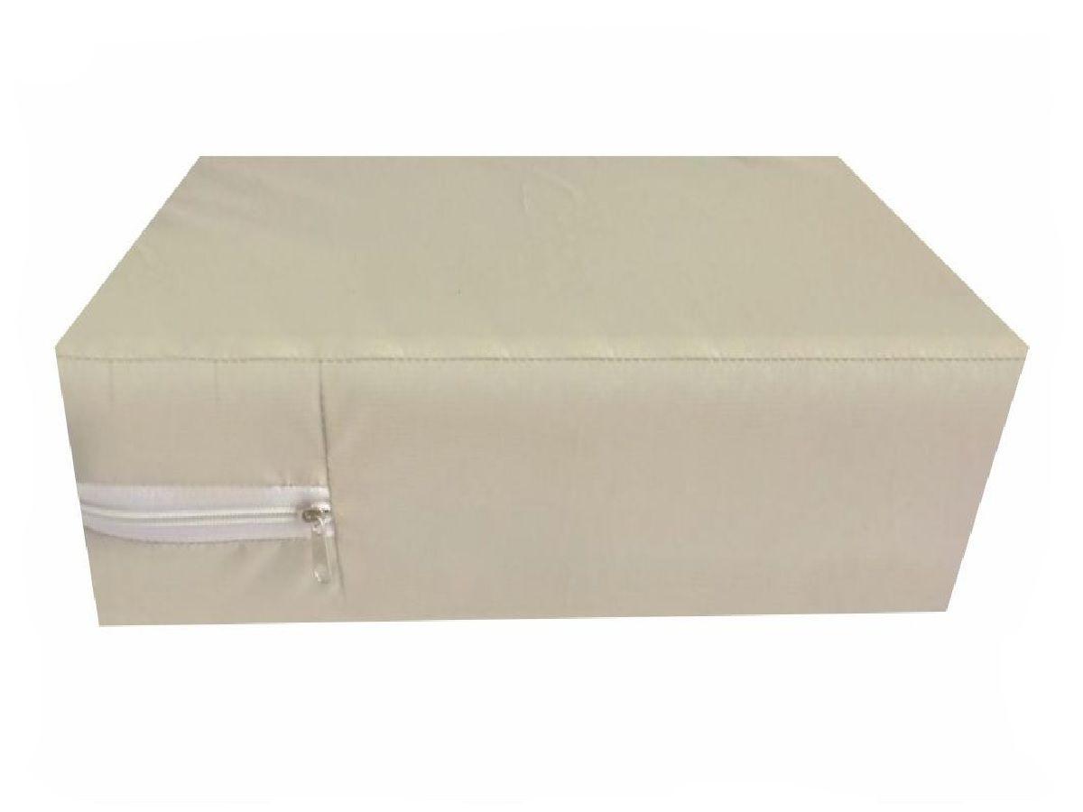 Capa Casal Impermeável Branca Anti alérgica Hospitalar Forrada Com Zíper Medida Especial