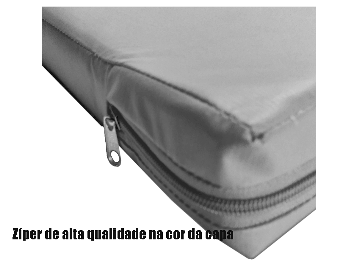 Capa Casal Impermeável Cinza Anti alérgica Hospitalar Forrada Com Zíper Medida Especial  - Miranda Colchões