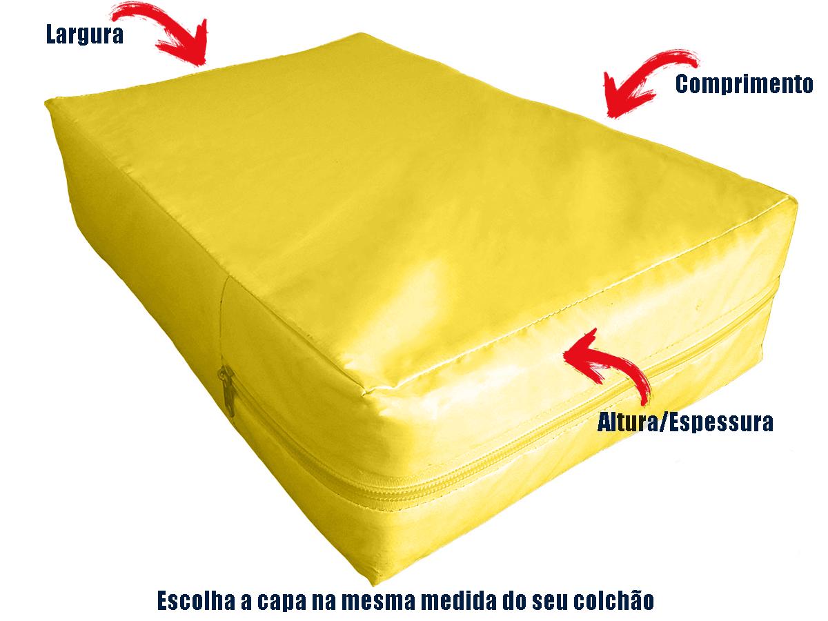 Capa Casal Impermeável Colchão Anti Alérgica AMARELA  - Miranda Colchões