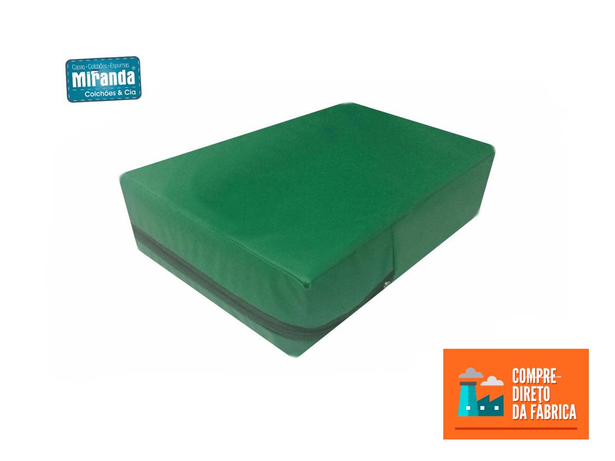 Capa Casal Impermeável Colchão Anti Alérgica VERDE BANDEIRA  - Miranda Colchões