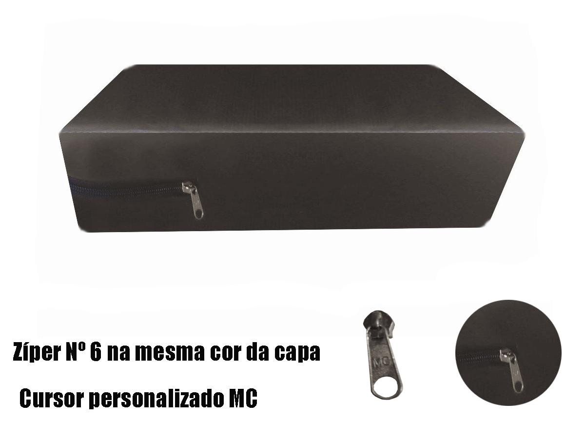 Capa Casal Impermeável Marrom Anti alérgica Hospitalar Forrada Com Zíper Medida Especial  - Miranda Colchões