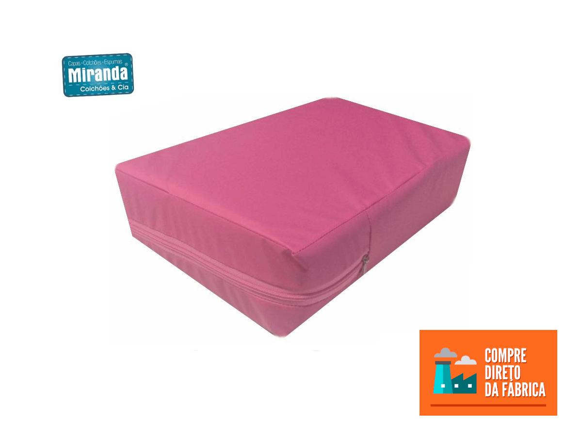 Capa Casal Impermeável Rosa Anti alérgica Hospitalar Forrada Com Zíper Medida Especial  - Miranda Colchões