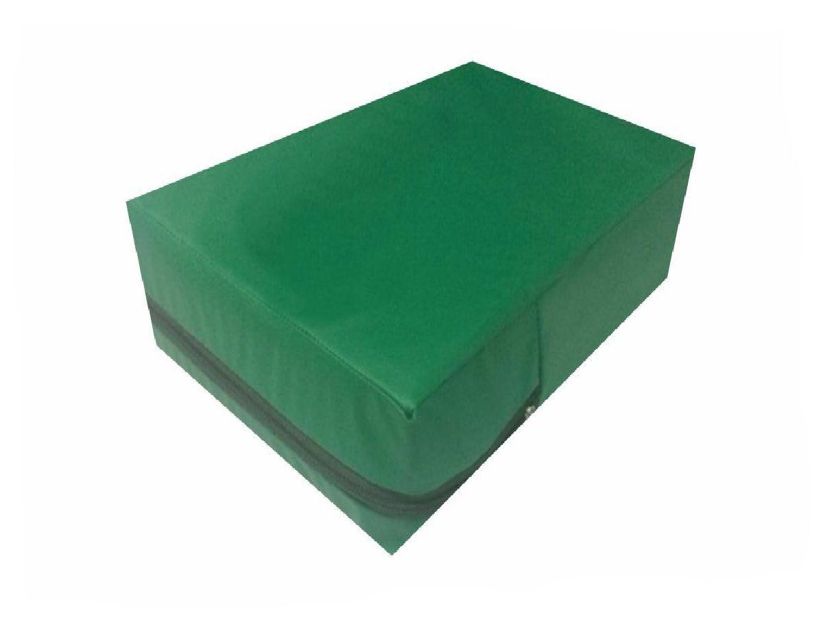 Capa Casal Impermeável Verde Bandeira Anti alérgica Hospitalar Forrada Com Zíper Medida Especial