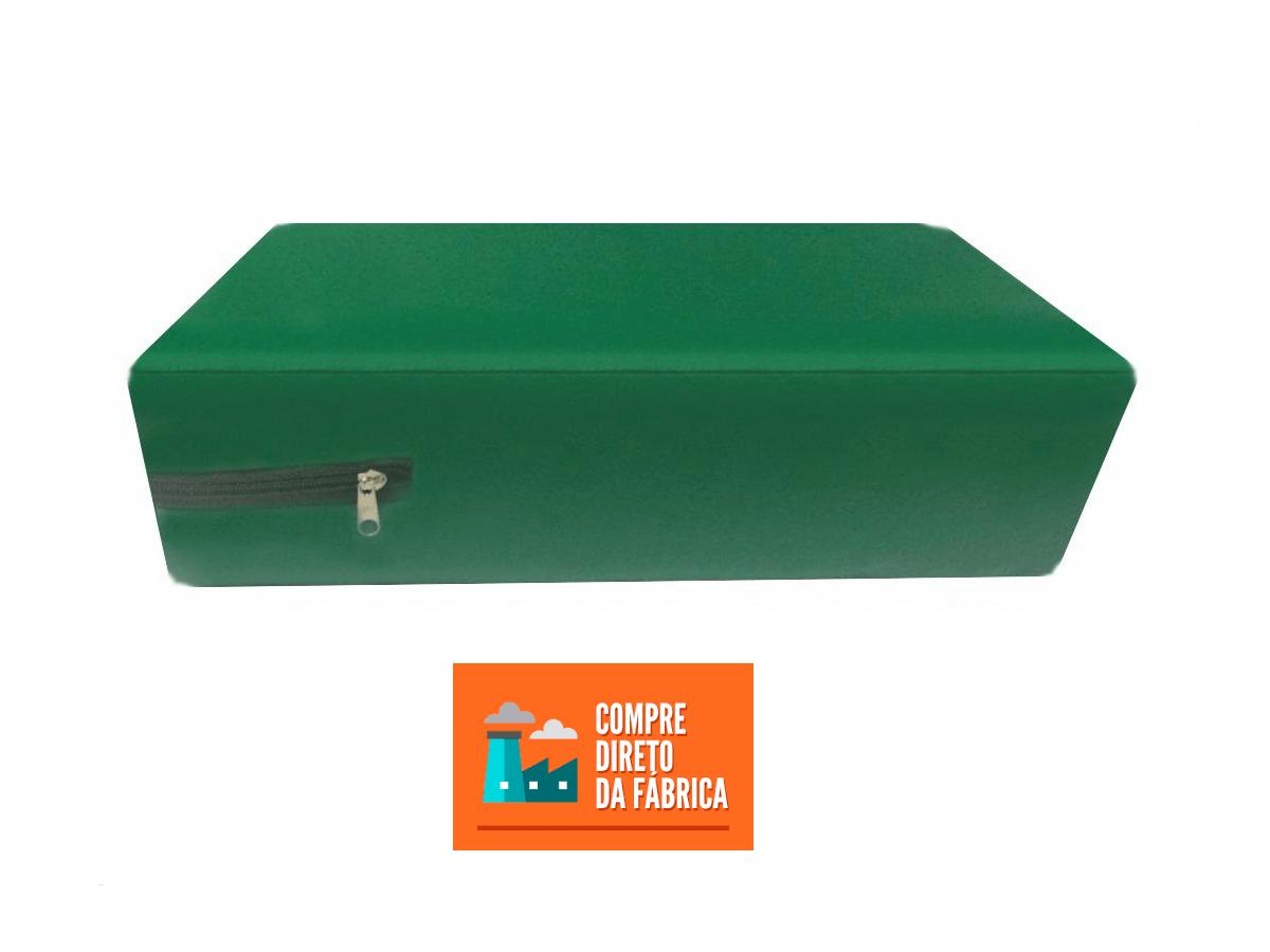 Capa Casal Impermeável Verde Bandeira Anti alérgica Hospitalar Forrada Com Zíper Medida Especial  - Miranda Colchões