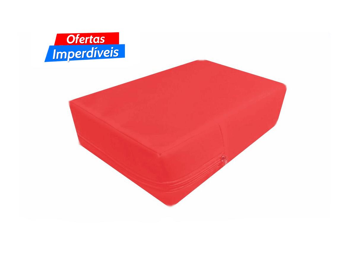 Capa Casal Impermeável Vermelha Anti alérgica Hospitalar Forrada Com Zíper Medida Especial  - Miranda Colchões