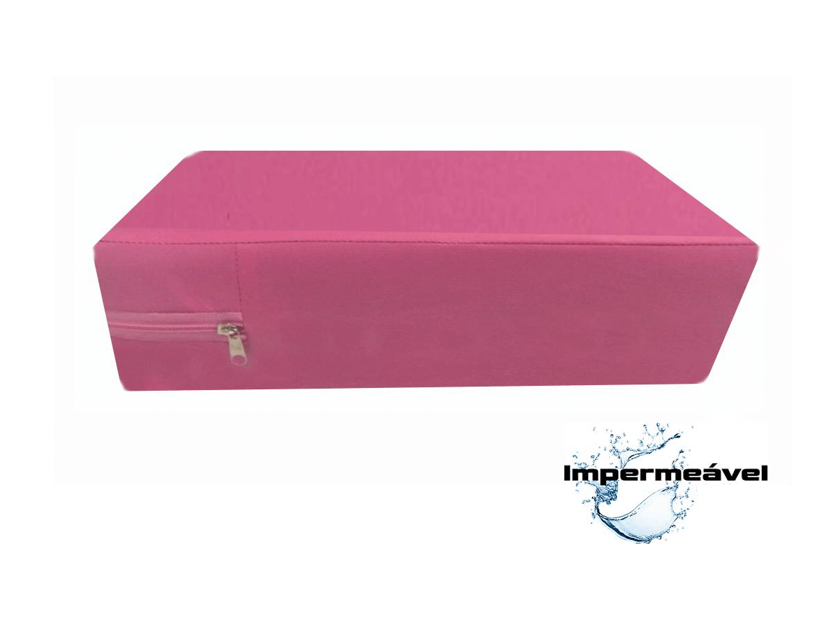 Capa Colchão Casal Impermeável Colchão Anti Alérgica Rosa  - Miranda Colchões